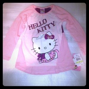 Girls hello kitty by Sanrio pink top